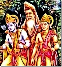 Rama and Lakshmana with Vishvamitra