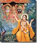 Lord Chaitanya worshiping