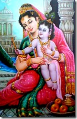 Krishna and mother Yashoda