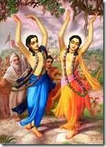 Lord Chaitanya and Nityananda Prabhu