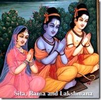Sita, Rama and Lakshmana
