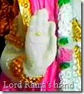 Lord Rama's lotus hand