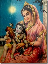 Mother Kausalya with Rama