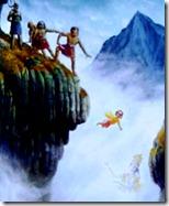 Prahlada Maharaja saved by Vishnu