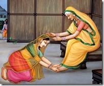 Sita Devi honoring Anasuya