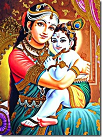[Lord Krishna with mother Yashoda]