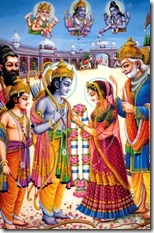 [Sita and Rama marrying]