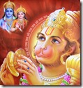 [Hanuman worshiping Sita and Rama]