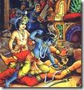 [Krishna against Kamsa]
