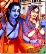 [Sita and Rama going to the forest]