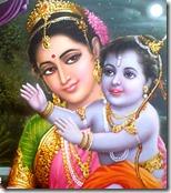 [Kausalya with Rama]