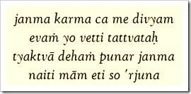 [Bhagavad-gita, 4.9]