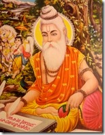 [Valmiki writing the Ramayana]