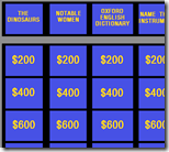[Jeopardy board]