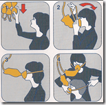 [Oxygen mask diagram]