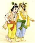 [Balarama with Krishna]