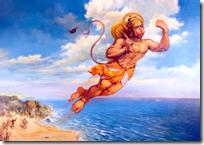 [Hanuman crossing the ocean]