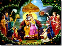 [The gopis with Krishna]