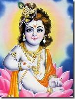 [Krishna decorated]