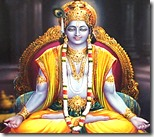 [Krishna in meditation]