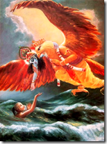 [Krishna offering a rescuing hand]