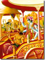 [Krishna fighting Paundraka]