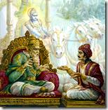 [Sanjaya speaking to Dhritarashtra]
