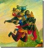 [Vibhishana approaching Rama]