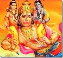 [Hanuman carrying Rama and Lakshmana]