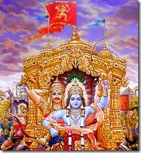 [Hanuman's flag on the chariot]