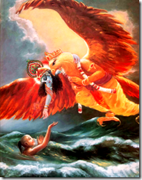 [Krishna rescuing from the material ocean]