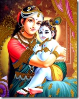 [Yashoda holding Krishna]