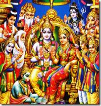 [Sita-Rama on throne]