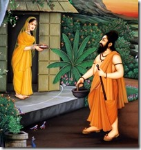 [Ravana visiting Sita's cottage]