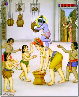 [Krishna and friends stealing butter]