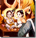 [Krishna and Balarama naming ceremony]