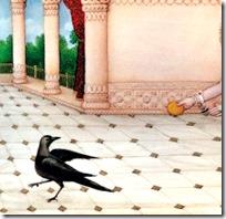 [Rama chasing after Kakabhushundi]