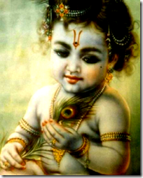 [Krishna with peacock feather]