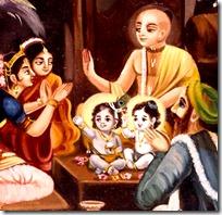 [Krishna name giving ceremony]