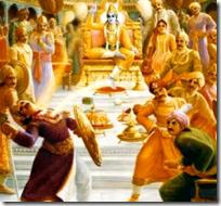 [Krishna killing Shishupala]