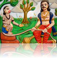 [Hanuman and Bhima]
