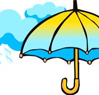 [rain and umbrella]