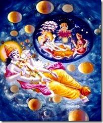 [Lord Vishnu creating]