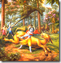 [Krishna and Gardabhasura]