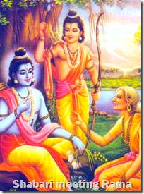[Shabari meeting Rama]