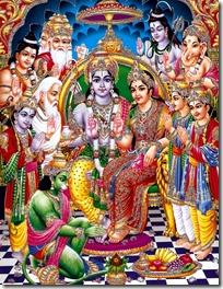 [Sita-Rama with devas]