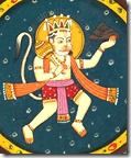 [Hanuman carrying mountain]