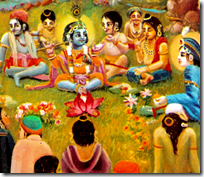 [Krishna lunch with friends]