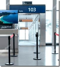 [boarding gate]