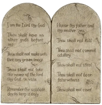 [the ten commandments]